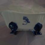 Baignoire bleu bateau