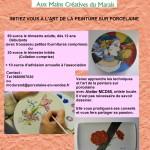 affiche ateliers Peinture sur porcelaine