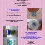 Affiche ateliers peinture porcelaine le Mercredi après-midis