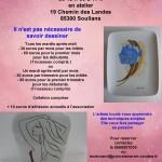 Affiche ateliers peinture porcelaine le mardi après-midis